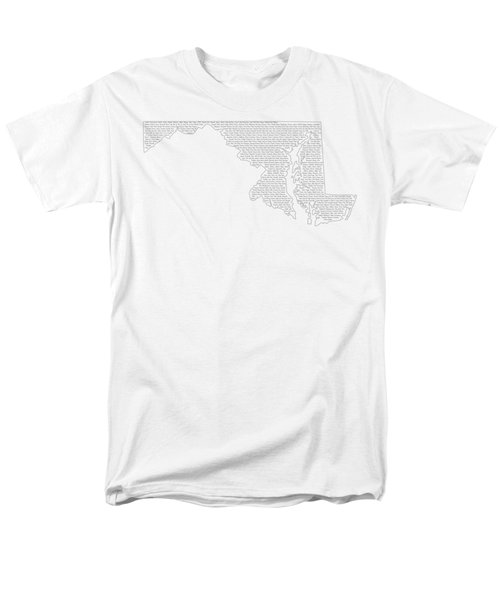 Cities And Towns In Maryland Black Men's T-Shirt  (Regular Fit) by Custom Home Fashions