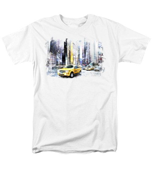 City-art Times Square II Men's T-Shirt  (Regular Fit) by Melanie Viola