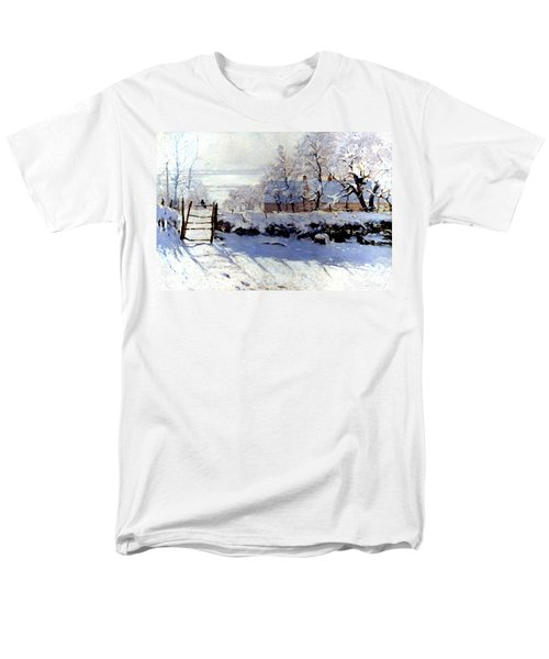 Claude Monet: The Magpie Men's T-Shirt  (Regular Fit) by Granger