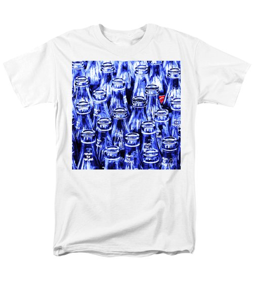 Coca-Cola Coke Bottles - Return For Refund - Square - Painterly - Blue T-Shirt by Wingsdomain Art and Photography