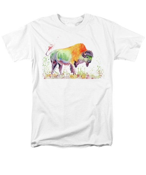 Colorful American Buffalo Men's T-Shirt  (Regular Fit) by Melly Terpening