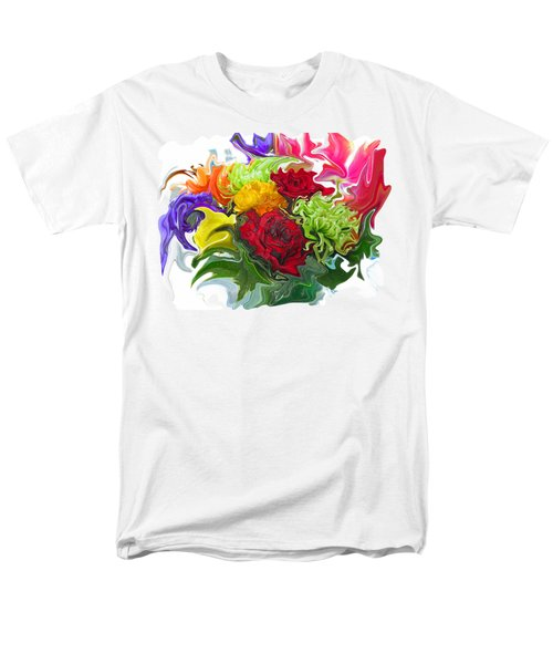Colorful Bouquet Men's T-Shirt  (Regular Fit) by Kathy Moll