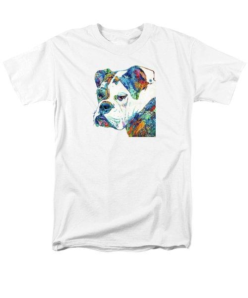 Colorful English Bulldog Art By Sharon Cummings Men's T-Shirt  (Regular Fit) by Sharon Cummings