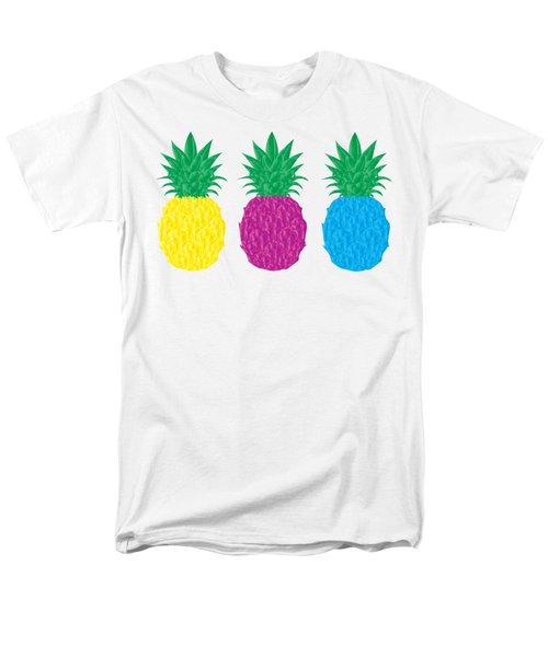 Colorful Pineapples Men's T-Shirt  (Regular Fit) by Leah Hawkins