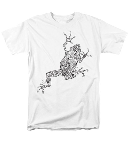 Coloring Page With Beautiful Frog Drawing By Megan Duncanson Men's T-Shirt  (Regular Fit) by Megan Duncanson
