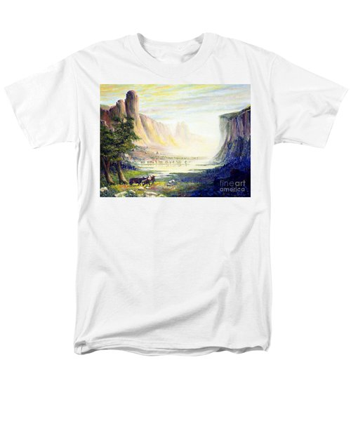 Cows in the Mountain T-Shirt by Wingsdomain Art and Photography