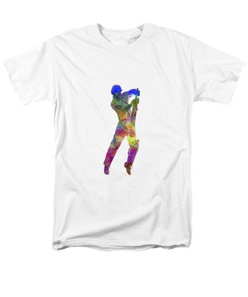 Cricket Player Batsman Silhouette 05 Men's T-Shirt  (Regular Fit) by Pablo Romero