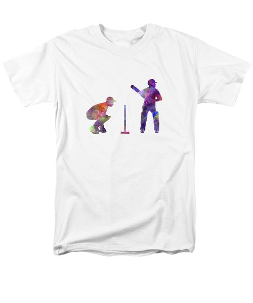 Cricket Player Silhouette Men's T-Shirt  (Regular Fit) by Pablo Romero