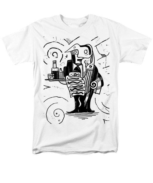 Cubist Waiter Men's T-Shirt  (Regular Fit) by Erki Schotter