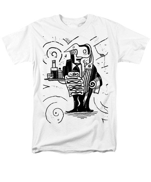 Cubist Waiter Men's T-Shirt  (Regular Fit) by Sotuland Art