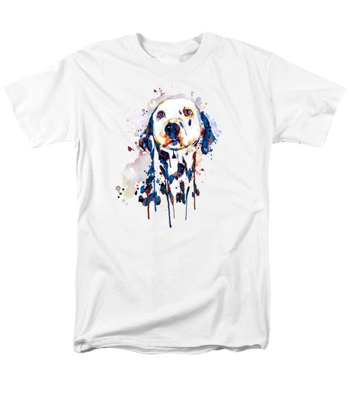 Dalmatian Head Men's T-Shirt  (Regular Fit) by Marian Voicu