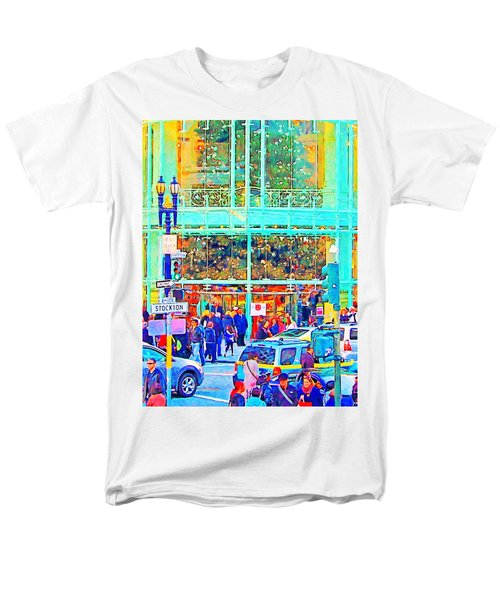 Day Before Christmas at Neiman Marcus . Photoart T-Shirt by Wingsdomain Art and Photography