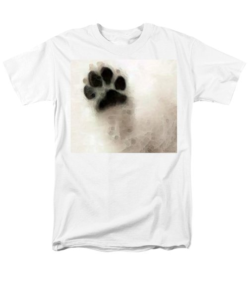 Dog Art - I Paw You T-Shirt by Sharon Cummings
