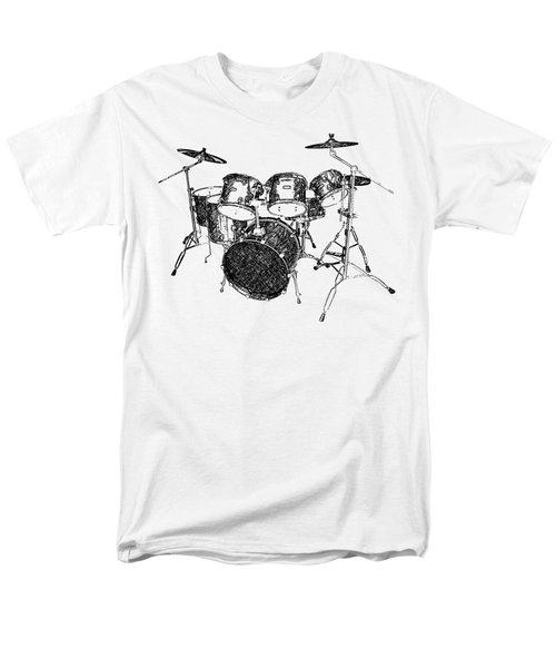 Drums Men's T-Shirt  (Regular Fit) by Birgitta