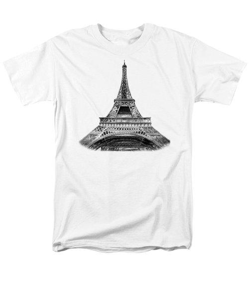 Eiffel Tower Design Men's T-Shirt  (Regular Fit) by Irina Sztukowski
