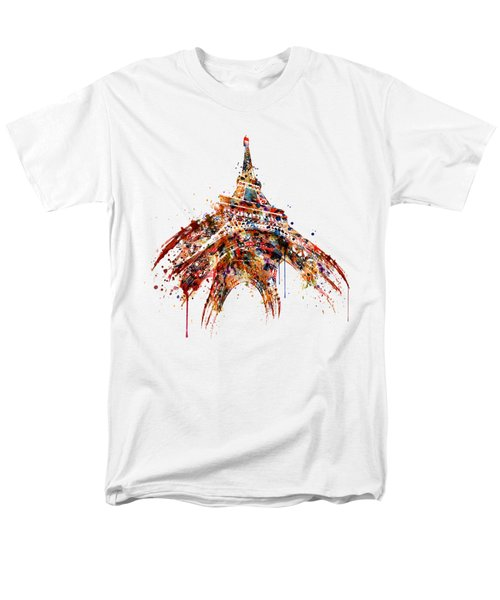Eiffel Tower Watercolor Men's T-Shirt  (Regular Fit) by Marian Voicu