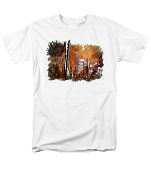 Empire State Reflections Earthy Rainbow 3 Dimensional Men's T-Shirt  (Regular Fit) by Di Designs
