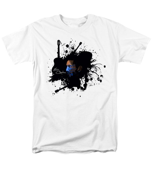 Eric Clapton In Blue Men's T-Shirt  (Regular Fit) by Ryan Anderson