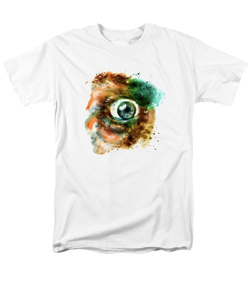 Fear Eye Watercolor Men's T-Shirt  (Regular Fit) by Marian Voicu