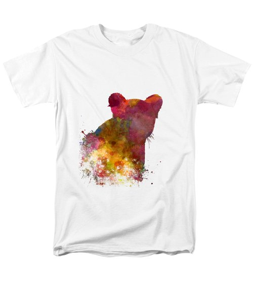 Female Lion 02 In Watercolor Men's T-Shirt  (Regular Fit) by Pablo Romero