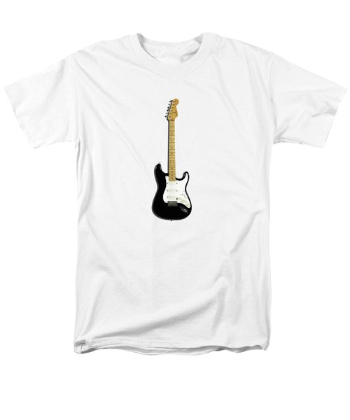 Fender Stratocaster Blackie 77 Men's T-Shirt  (Regular Fit) by Mark Rogan