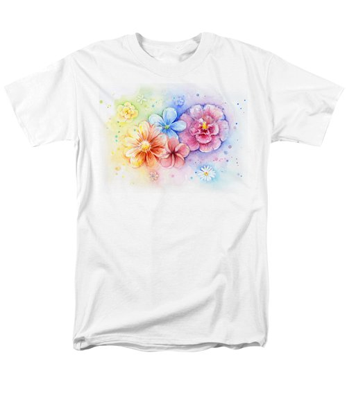 Flower Power Watercolor Men's T-Shirt  (Regular Fit) by Olga Shvartsur