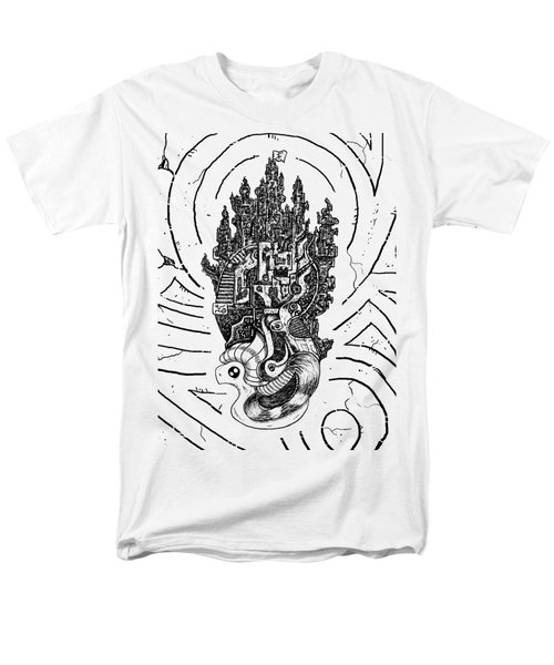 Flying Castle Men's T-Shirt  (Regular Fit) by Erki Schotter