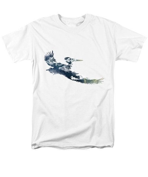 Flying Pelican Men's T-Shirt  (Regular Fit) by Diana Van