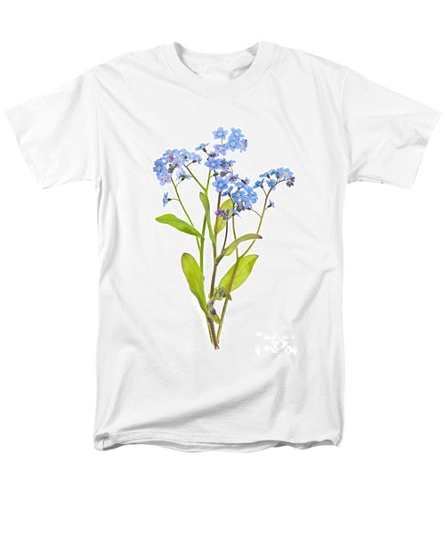 Forget-me-not flowers on white T-Shirt by Elena Elisseeva