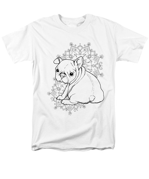 French Bulldog Puppy Men's T-Shirt  (Regular Fit) by Cindy Elsharouni