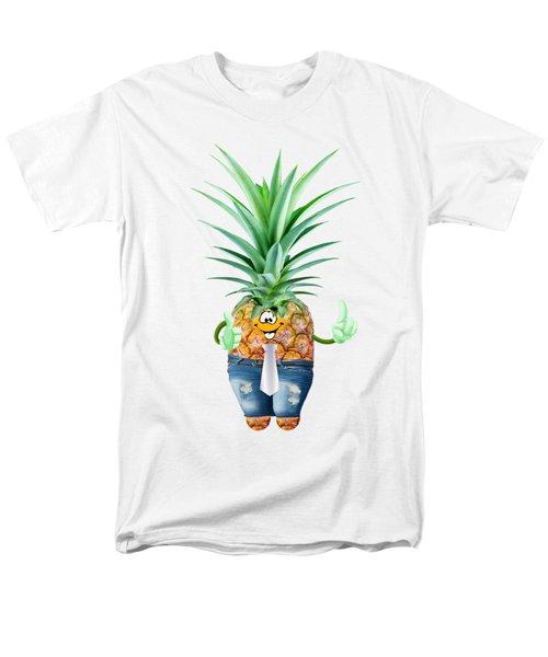 Fun Pineapple  Men's T-Shirt  (Regular Fit) by Elena Nikolaeva