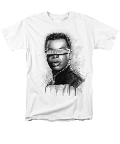 Geordi La Forge - Star Trek Art Men's T-Shirt  (Regular Fit) by Olga Shvartsur