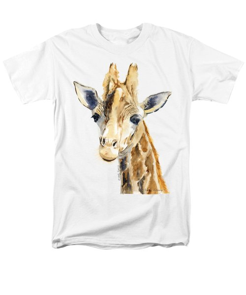 Giraffe Watercolor Men's T-Shirt  (Regular Fit) by Melly Terpening