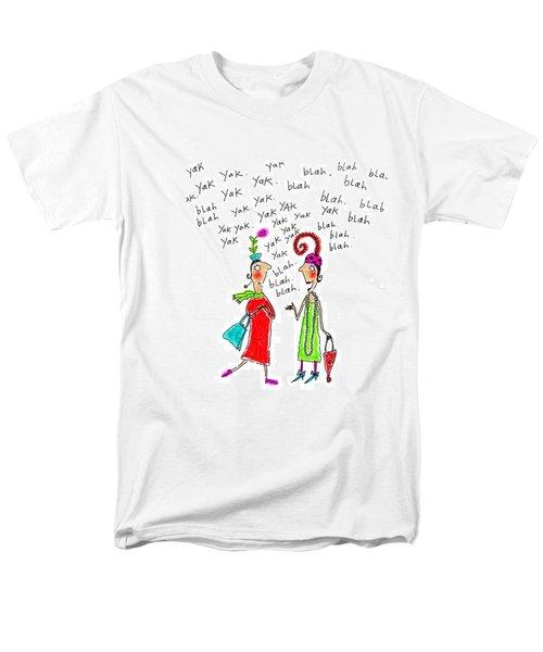 Girl Talk Men's T-Shirt  (Regular Fit) by Karon Melillo DeVega