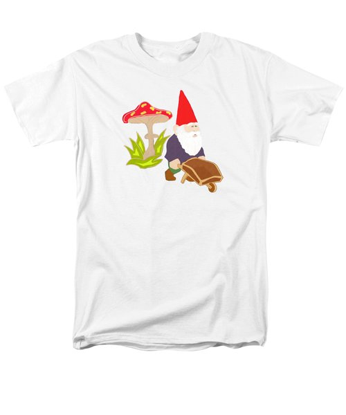 Gnome Garden Men's T-Shirt  (Regular Fit) by Priscilla Wolfe