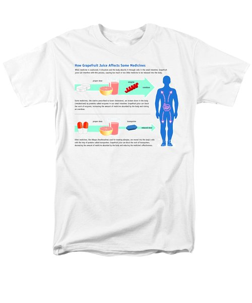 Grapefruit Juice And Medicine Warning Men's T-Shirt  (Regular Fit) by Science Source