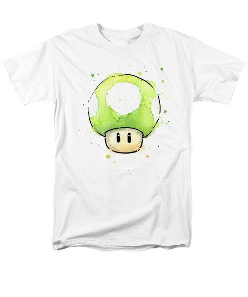 Green 1up Mushroom Men's T-Shirt  (Regular Fit) by Olga Shvartsur