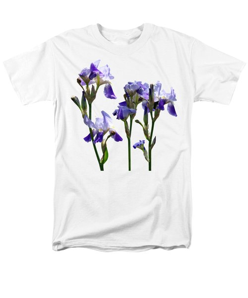 Group Of Purple Irises Men's T-Shirt  (Regular Fit) by Susan Savad