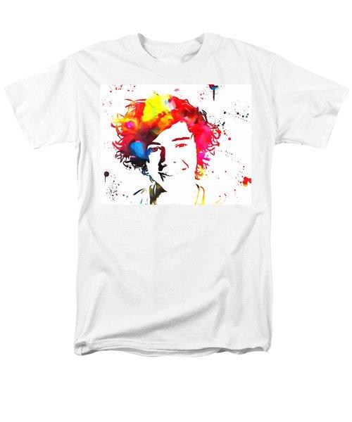 Harry Styles Paint Splatter Men's T-Shirt  (Regular Fit) by Dan Sproul