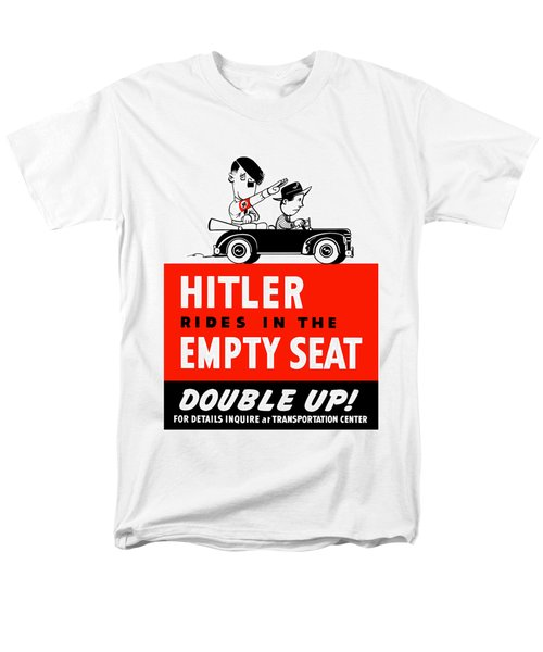 Hitler Rides In The Empty Seat T-Shirt by War Is Hell Store