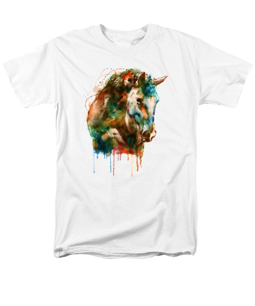 Horse Head Watercolor Men's T-Shirt  (Regular Fit) by Marian Voicu
