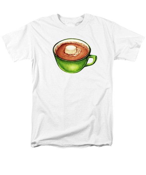 Hot Cocoa Pattern Men's T-Shirt  (Regular Fit) by Kelly Gilleran