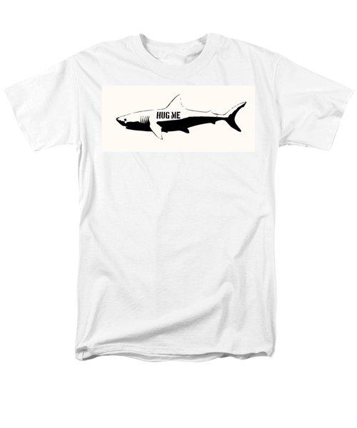Hug me shark - Black  T-Shirt by Pixel  Chimp