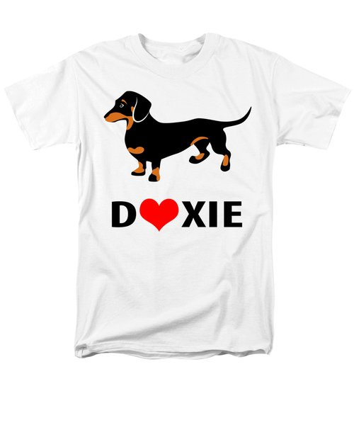 I Love My Doxie Men's T-Shirt  (Regular Fit) by Antique Images