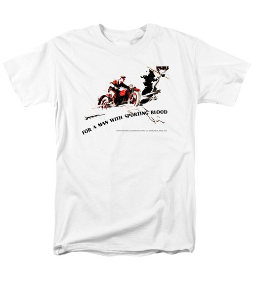 Indian Motorcycle - Sporting Blood 1930 Men's T-Shirt  (Regular Fit) by Mark Rogan