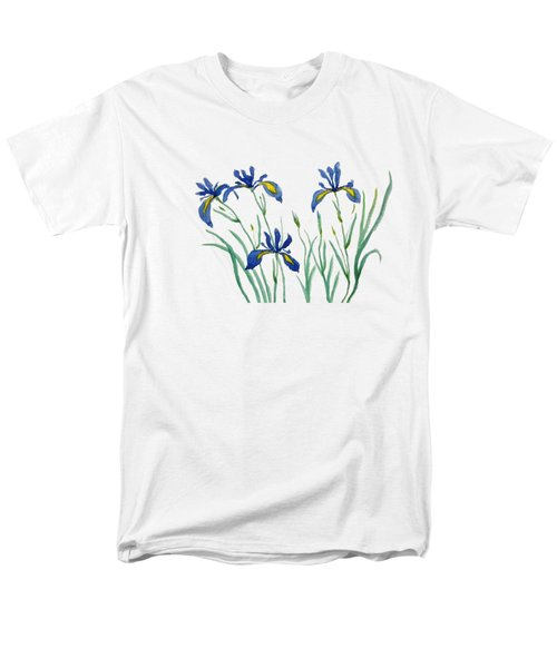 Iris In Japanese Style Men's T-Shirt  (Regular Fit) by Color Color