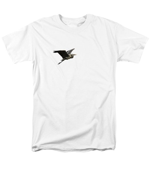 Isolated Great Blue Heron 2015-3 Men's T-Shirt  (Regular Fit) by Thomas Young