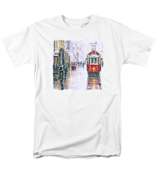 Istanbul Nostalgic Tramway Men's T-Shirt  (Regular Fit) by Marian Voicu