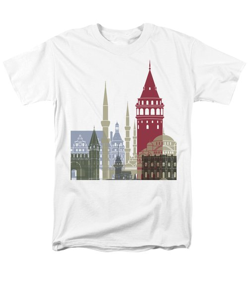Istanbul Skyline Poster Men's T-Shirt  (Regular Fit) by Pablo Romero