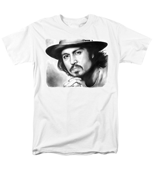 Johnny Depp Men's T-Shirt  (Regular Fit) by Greg Joens